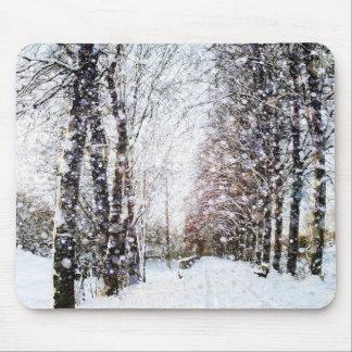 Natal Mousepad da paisagem do inverno