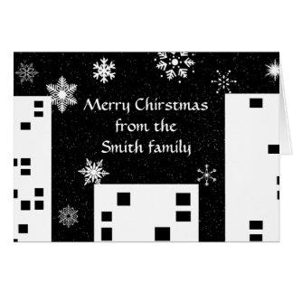Natal no cartão da cidade a personalizar