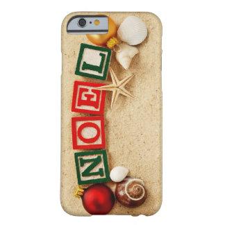 Natal Noel na praia Capa Barely There Para iPhone 6