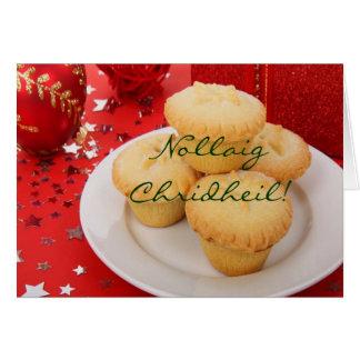 Natal Nollaig Chridheil Cartão