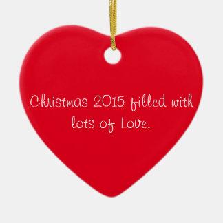 Natal Ornamento De Cerâmica Coração