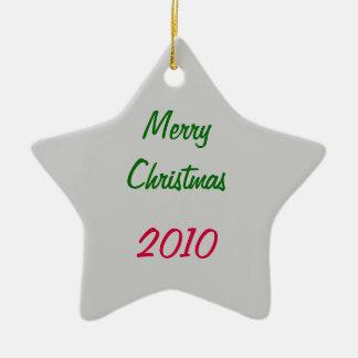 Natal Ornamento De Cerâmica Estrela