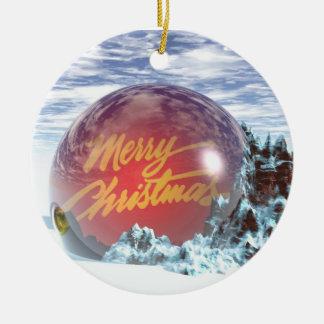Natal Ornamento De Cerâmica Redondo