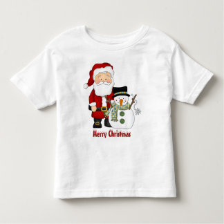 Natal, papai noel, boneco de neve, t-shirt