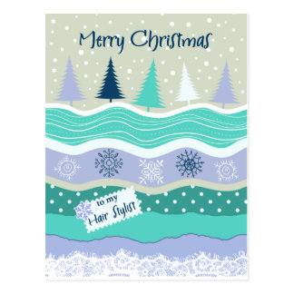Natal para flocos de neve Scrapbooking do Cartão Postal