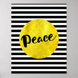 Natal - paz - poster listrado pôster