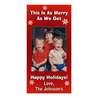 Natal personalizado engraçado cartão com foto