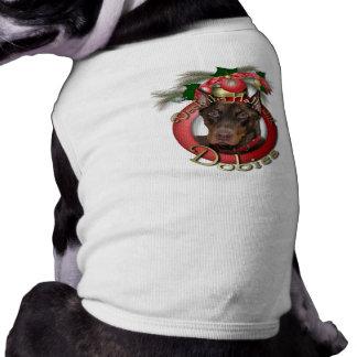 Natal - plataforma os salões - Dobies - rochoso Camisa Sem Mangas Para Cachorro