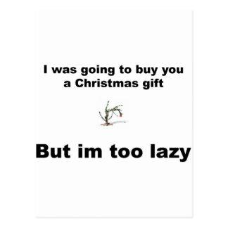 Natal preguiçoso cartão postal