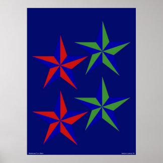 Natal quatro estrelas pôster