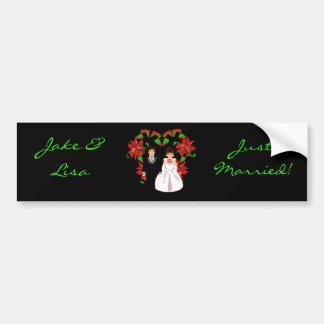 Natal/recem casados de dezembro mim autocolante no adesivo