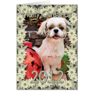 Natal - Shih Tzu - Marley Cartão