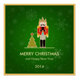 Natal verde - cartões de natal do Nutcracker Poster Perfeito