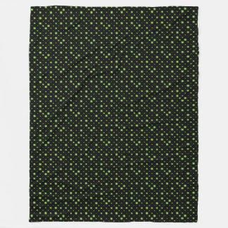 Natal verde da noite estrelado cobertor de lã