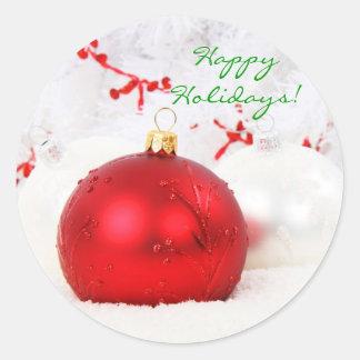 Natal vermelho e branco boas festas mim adesivo