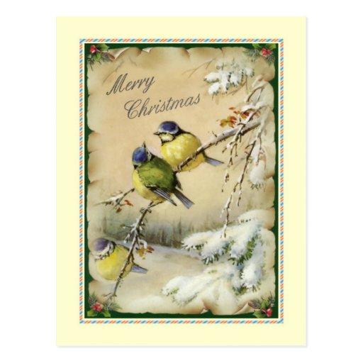 Natal vintage cartoes postais