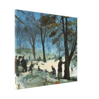 Natal vintage, Central Park no inverno Glackens