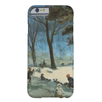 Natal vintage, Central Park no inverno Glackens Capa Barely There Para iPhone 6
