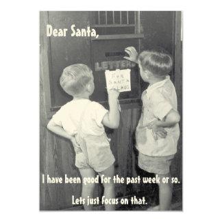 Natal vintage engraçado adorável que cumprimenta convite 12.7 x 17.78cm
