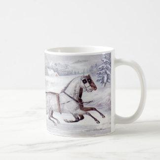 Natal vintage, o inverno da estrada, cavalo do caneca
