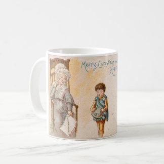 Natal vintage que tira o neto da avó caneca de café