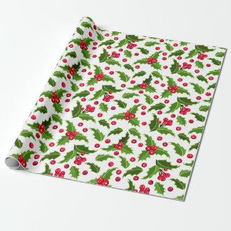 Natal vintage vermelho & papel de envolvimento papel de presente