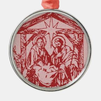 natividade bonito outline_edited-1 vermelho ornamento redondo cor prata
