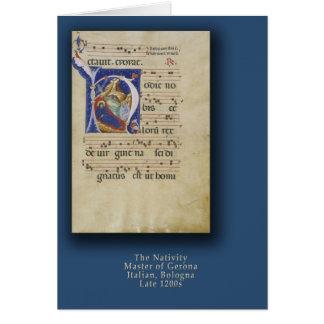Natividade com o cartão de Natal inicial de H