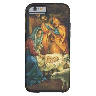 Natividade do natal vintage, bebê Jesus no Capa Tough Para iPhone 6