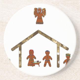 natividade do pão-de-espécie do Natal Porta-copos