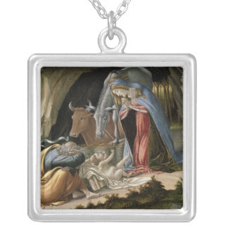 Natividade místico, 1500 colar banhado a prata