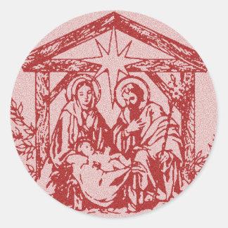 Natividade vermelha adesivo