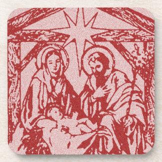 Natividade vermelha bonito porta-copo