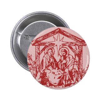 Natividade vermelha boton