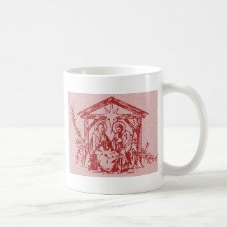Natividade vermelha caneca de café