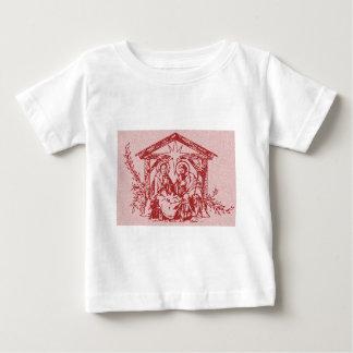 Natividade vermelha tshirt