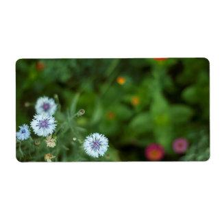 Natural flowers label etiqueta de frete
