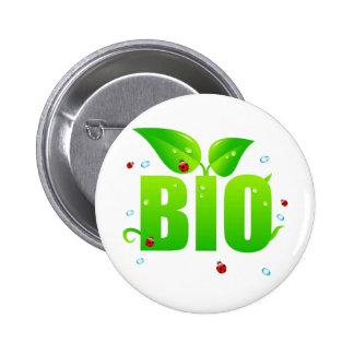 Natural orgânico biológico verde bóton redondo 5.08cm