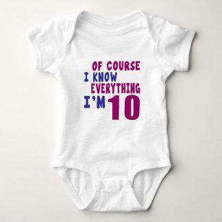 Naturalmente eu sei que tudo eu sou 10 t-shirt