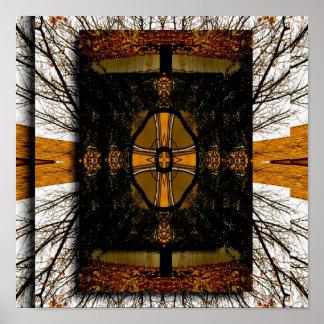 Natureza da arte abstracta inspirada poster