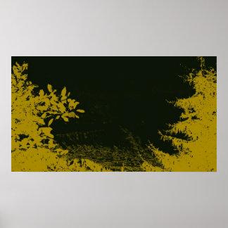 Natureza do ouro poster