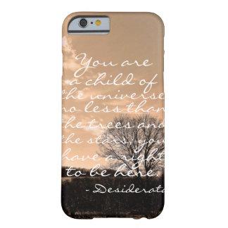 Natureza inspirada das citações do provérbio do capa barely there para iPhone 6