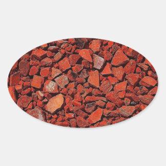 Natureza resistente rígida rústica de pedra da adesivos em formato ovais