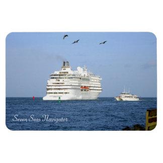 Navegando os mares foto com ímã retangular