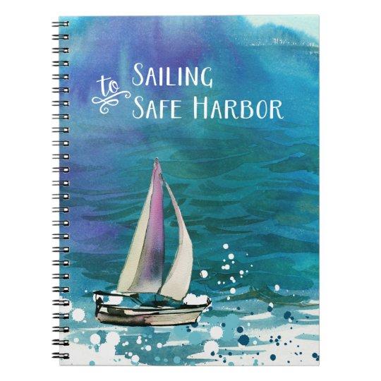 Navigação ao porto seguro cadernos espirais