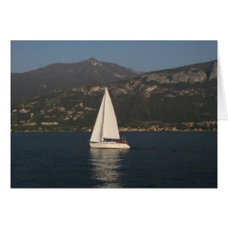Navigação no lago Como Cartão De Nota