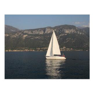 Navigação no lago Como Cartão Postal