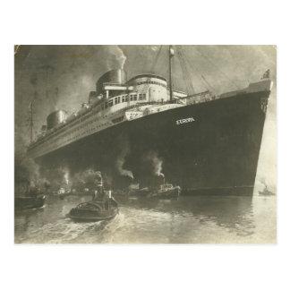 Navio de carga de Norddeutsche Lloyd D. Europa do  Cartoes Postais