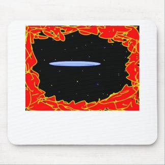 navio de espaço com referência a entrar mouse pad