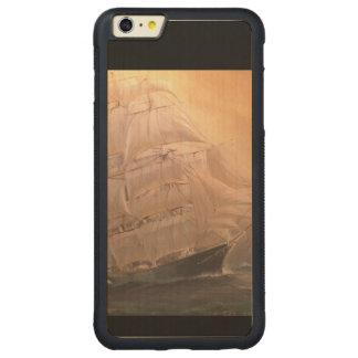 Navio de navigação do pirata capa bumper para iPhone 6 plus de bordo, carved